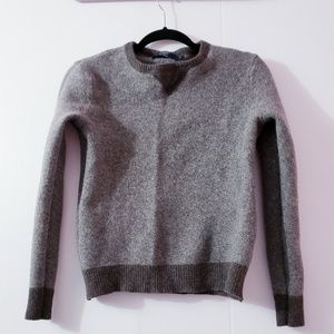 J.crew Brown Lambswool Sweatshirt Sweater Size S
